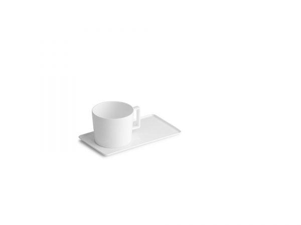 Чашка чайная с прямоугольным блюдцем, 220мл Verso Chic